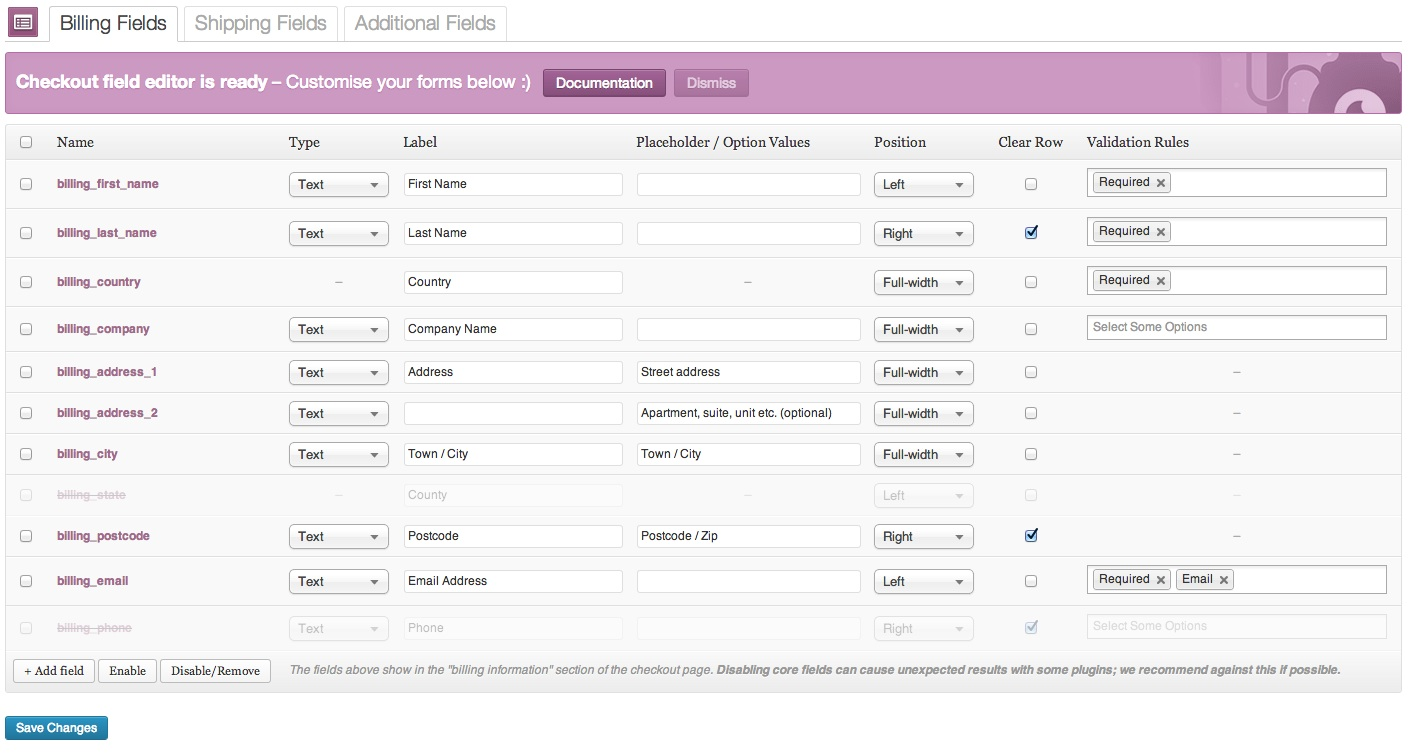 woocommerce checkout field editor woobeast